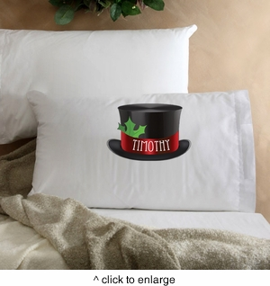 Personalized Snowman Kids Christmas Pillow - click to enlarge