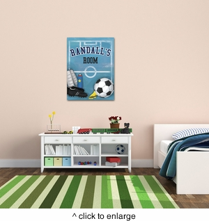 Personalized Soccer Canvas - click to enlarge