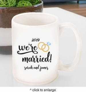 Personalized We're Married Coffee Mug - click to enlarge
