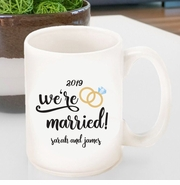 Personalized We're Married Coffee Mug