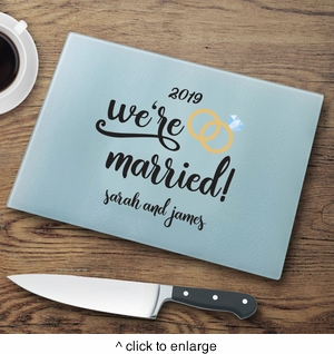 Personalized We're Married Cutting Board - click to enlarge