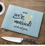 Personalized We're Married Cutting Board