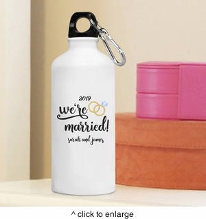 Personalized We're Married Water Bottle - click to enlarge