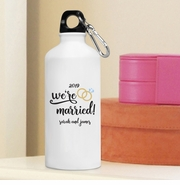 Personalized We're Married Water Bottle