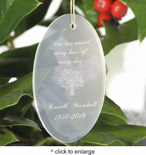 Personalized  You Are Missed Christmas Ornament  - click to enlarge