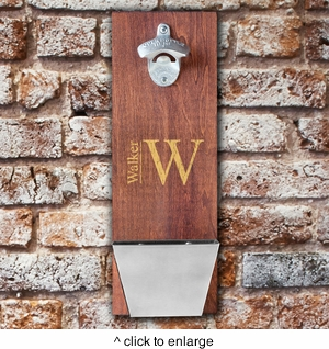 Wood Cap Catching Bottle Opener          - click to enlarge