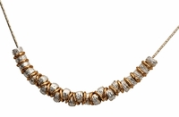 silver and goldfilled necklace