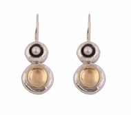 925 silver & 9 ct gold earrings set pearls
