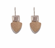 925 SILVER & 9K GOLD EARRINGS