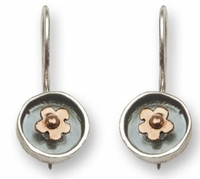 925 SILVER & 9K GOLD EARRINGS handcrafted jewelry from Israel