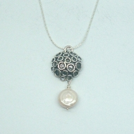 Amazing Designer Gift Sterling Silver and Freshwater Pearl Pendant