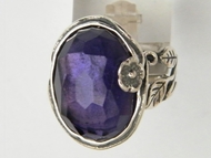 Amethyst sterling silver ring Bluenoemi jewelry