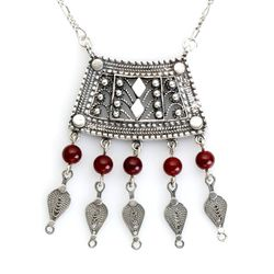 Arabesque necklace Sterling Silver Ethnic Israeli jewelry