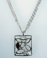 Artistic roman glass necklace jewelry for woman Israeli jewelry