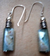 Authentic  roman glass earrings / israeli jewelry earrings