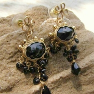 Black Onyx rich and flattering Earrings with Black Onyx