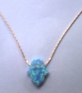 Blue opal necklace on a goldfilled chain