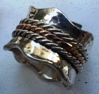 Ring celtic spinner ring silver and gold rings
