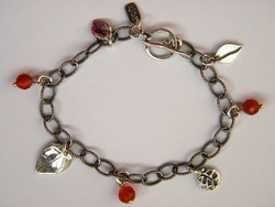 Charms silver bracelet handcrafted Israeli jewelry