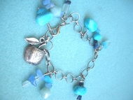 Dangling Bracelet with Israeli Charms
