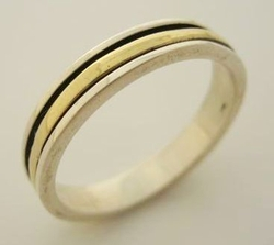 Delicate spinner ring wedding ring mens or women