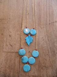 Designer Blue turquoise Necklace