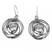 Designer earrings | sterling silver earrings | zircon earrings