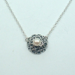 Designer Gift Sterling Silver Pendant with Freshwater Pear