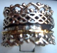 Designer Israeli ring stackable spinning  rings