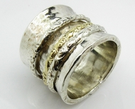 Designer spinner ring for man