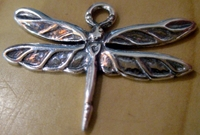 Dragonfly pendant sterling silver