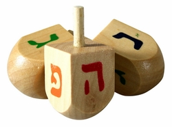 Dreidles dreidel Hanukkah lot of 4