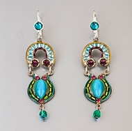 Earrings  Fashion jewelry turquoise dangling earrings