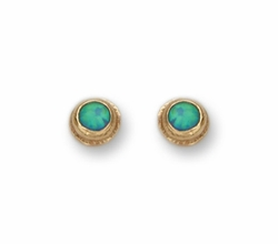 Earrings set with opals