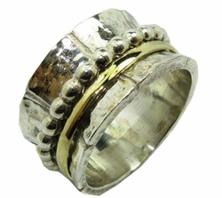 Elegant spinner ring. Bague tube argent.