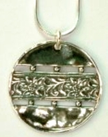 Ethnic silver necklace handcrafted in Israel