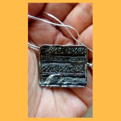 ethnic silver pendant   silver necklace for woman