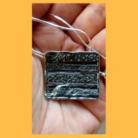 ethnic silver pendant | silver necklace for woman