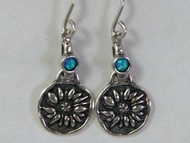 Ethnic sterling silver earrings