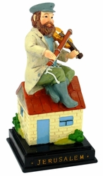Fiddler on the roof Jewish figurine in ceramics