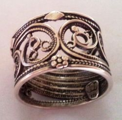 Filigree Sterling silver rings
