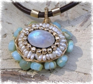 Floral moonstone necklace