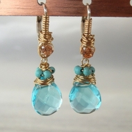 Gemstones earrings |woman's earrings | blue earrings