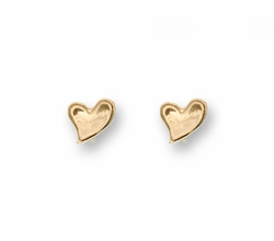 Gold earrings stud - heart designer earrings