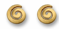 Gold stud earrings spiral designer earrings