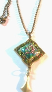 Green floral necklace fashion jewelry