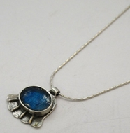 "Hamsa roman glass pendant / #""roman glass"" jewelry"