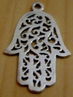 Hamsa sterling silver pendants filigree