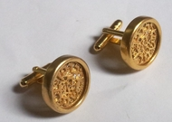 Handmade Sterling silver filigree cufflinks with Hebrew letters