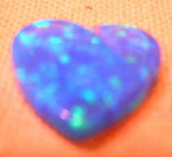 Heart blue opal  for making jewelry